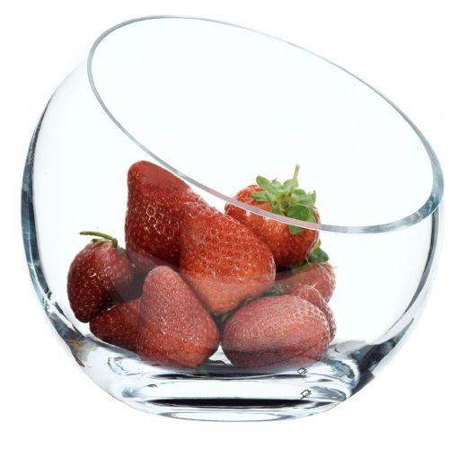 Glass Slant Sweets Bowl 16cm